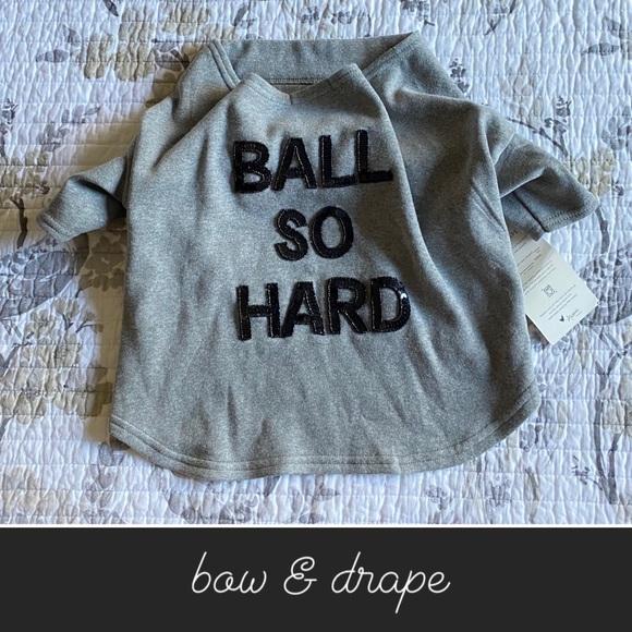 Bow & Drape Dog Sweatshirt Heather Gray NWT• XL